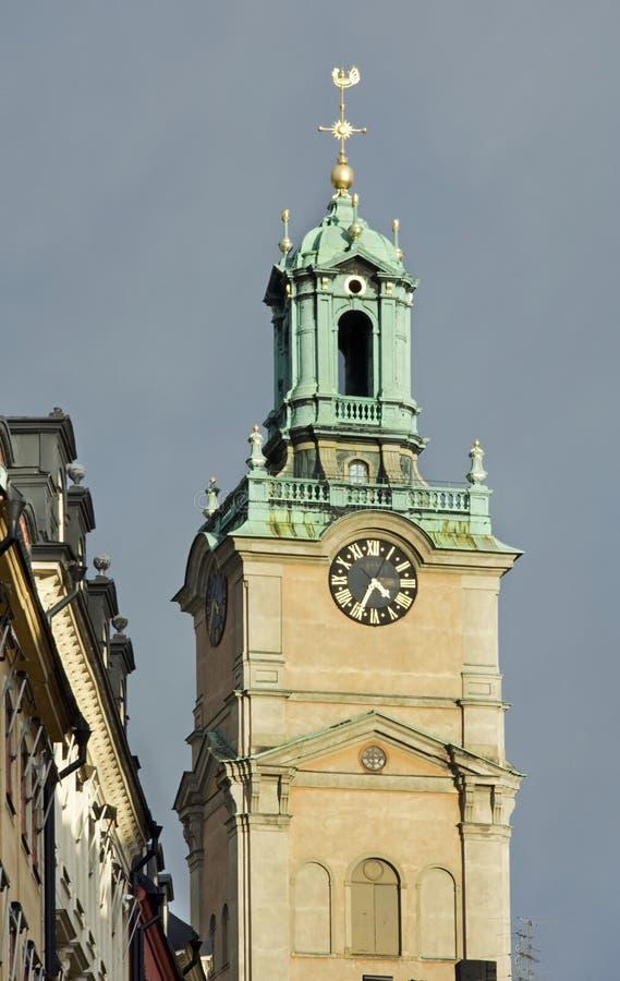 Storkyrkan Église de Saint-Nicolas - grande église à Stockholm sweden image libre de droits