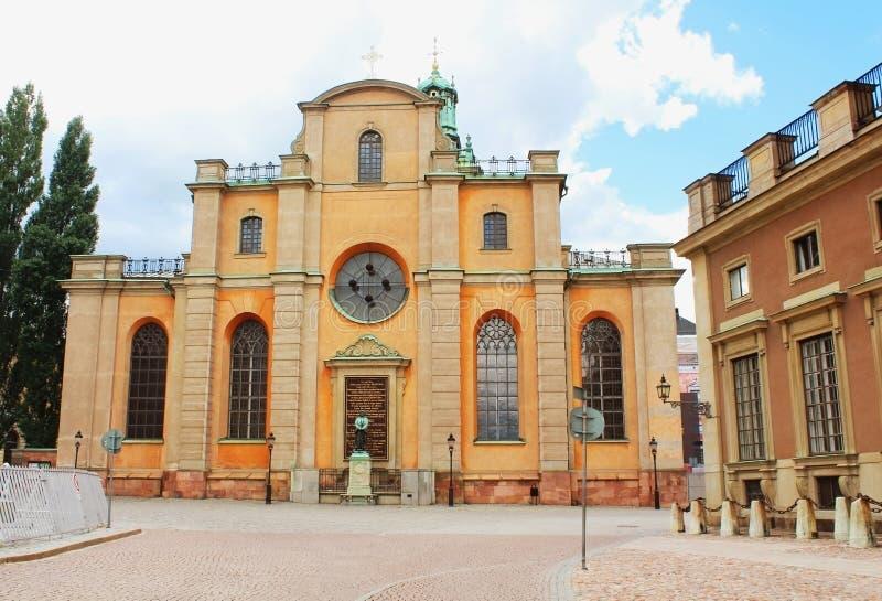 Storkyrkan -圣尼古拉斯,斯德哥尔摩大教堂  免版税库存照片