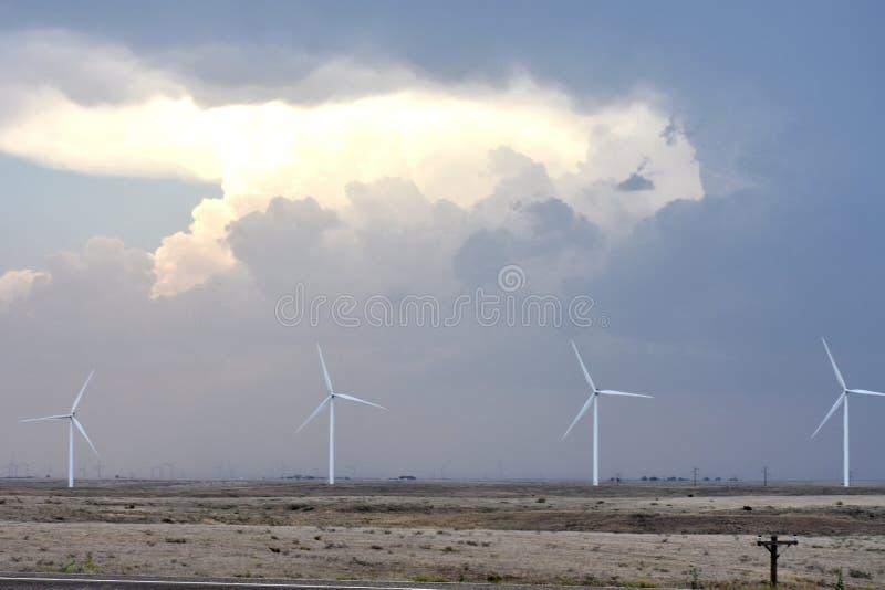 Storm över den Texas prärien arkivfoton