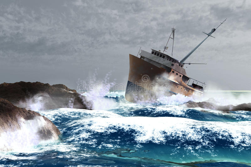 Download Storm stock illustration. Image of dramatic, nautical - 13707595
