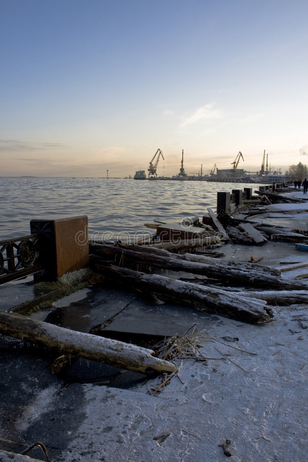 Download After storm stock photo. Image of storm, crane, frost - 7231784