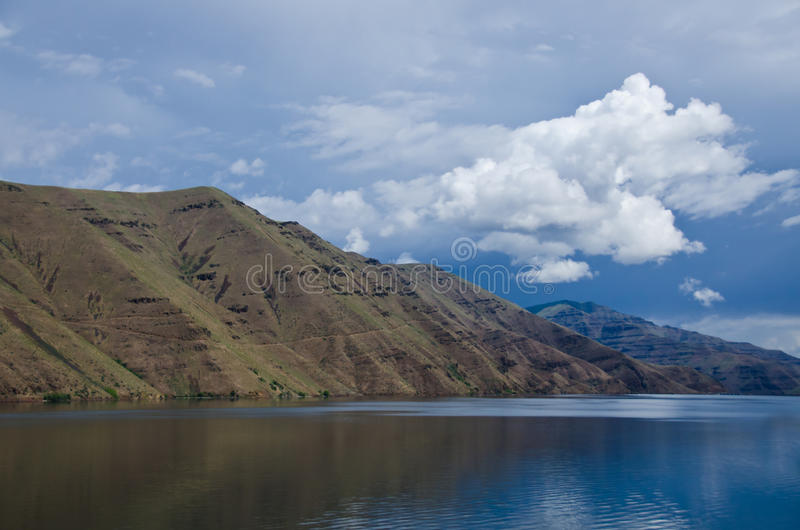Storm Approaching Above the Slopes of Hells Canyon royalty free stock photo