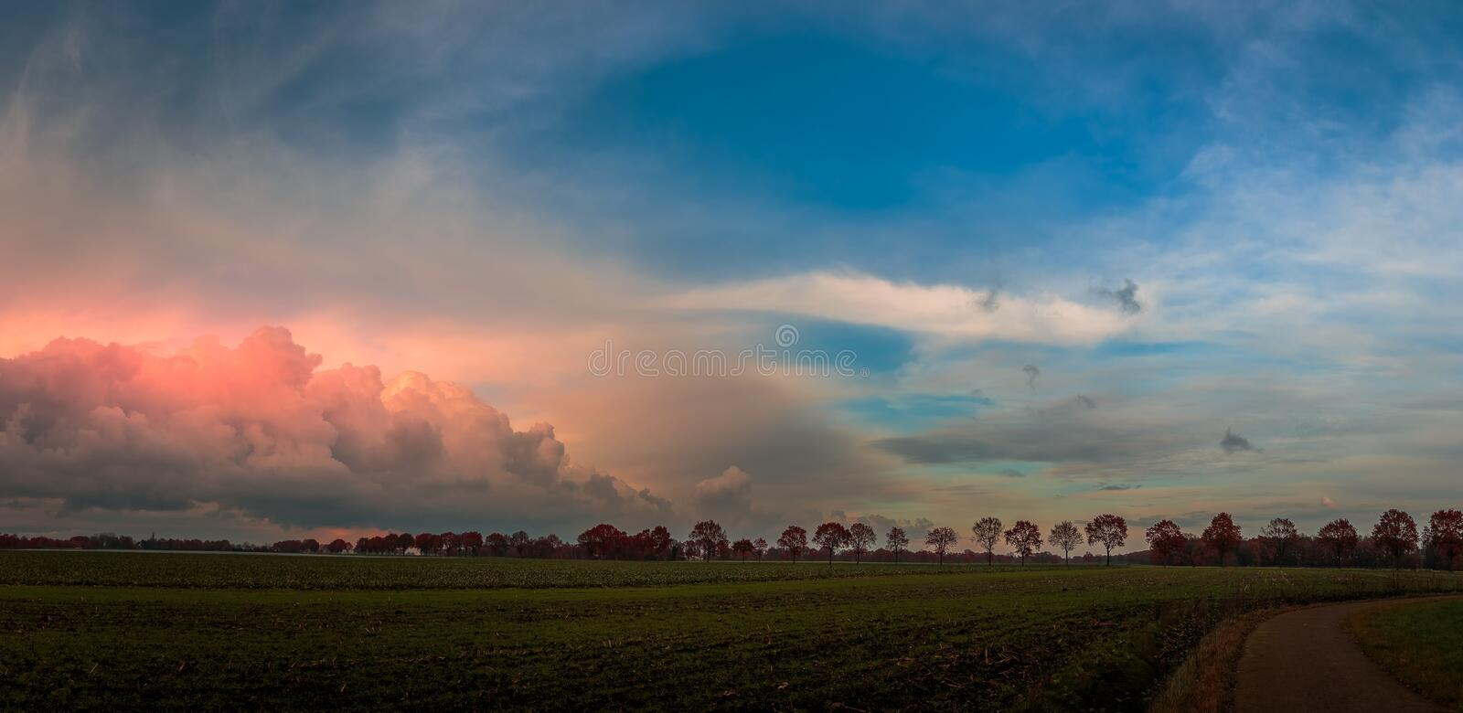 Storm approaching. Cloud in Nederweert, Netherlands royalty free stock photos