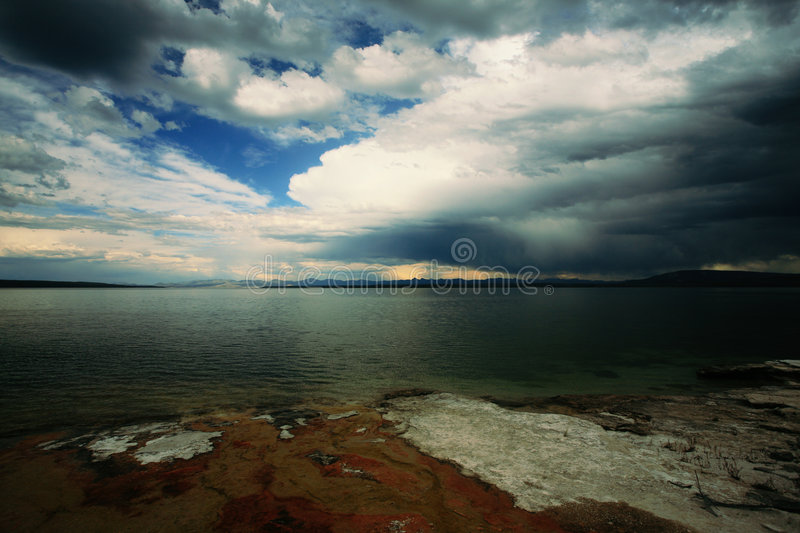 Storm approachs west thumb stock photo