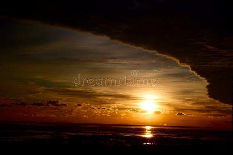 Storm Arrives At Sunrise stock image