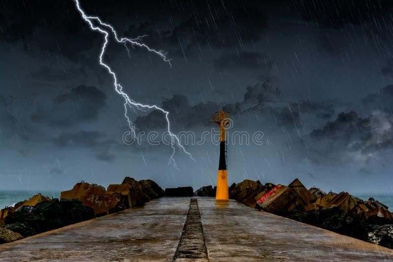 Storm on the Atlantic shore royalty free stock photo