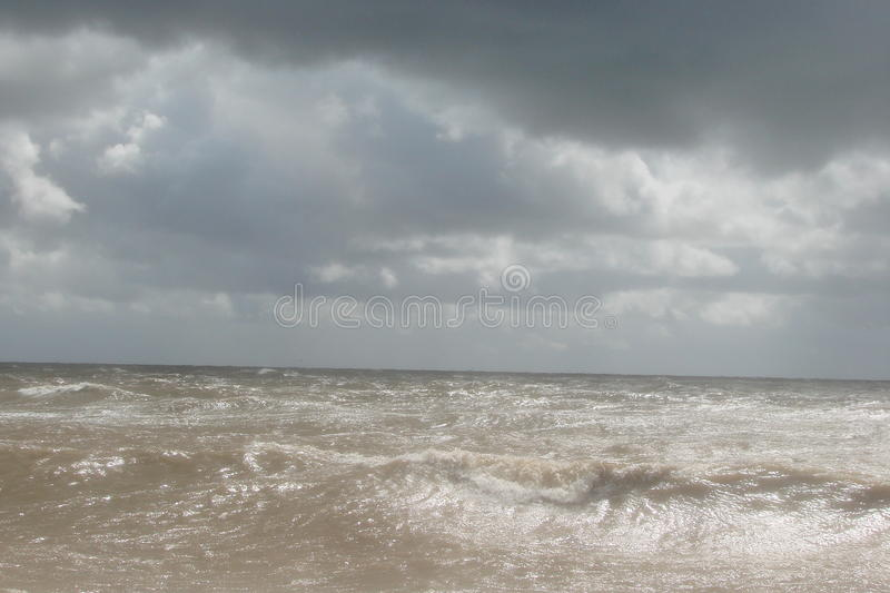 Storm on the Azov Sea. Storm on the Azov Sea in the height of summer royalty free stock images