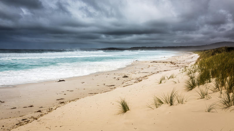 Storm at the Bay of Fires royalty free stock images