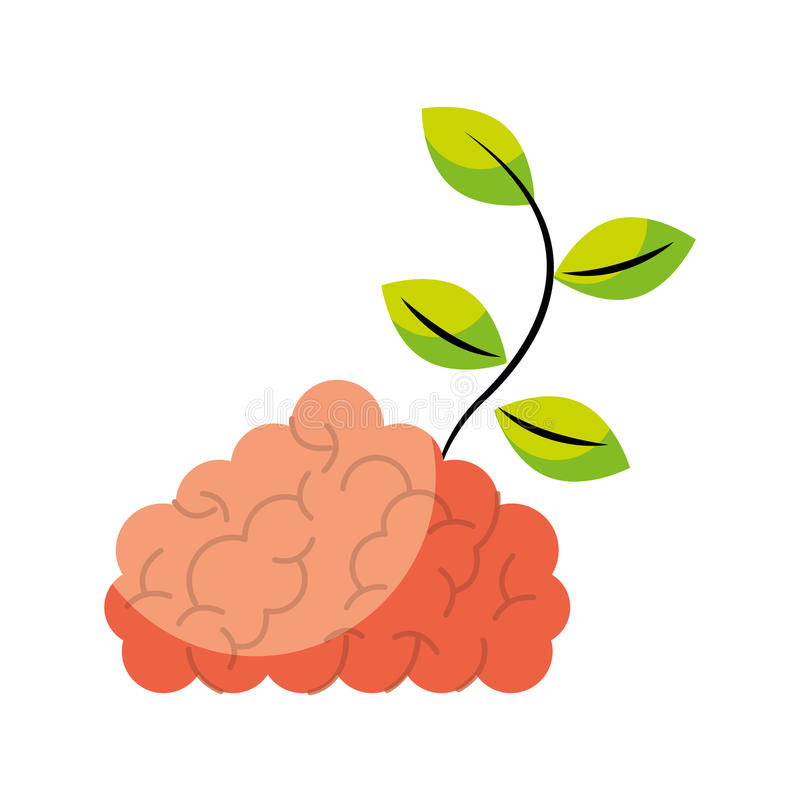 Free Storm Brain With Leafs Plant Isolated Icon Royalty Free Stock Photos - 91342128
