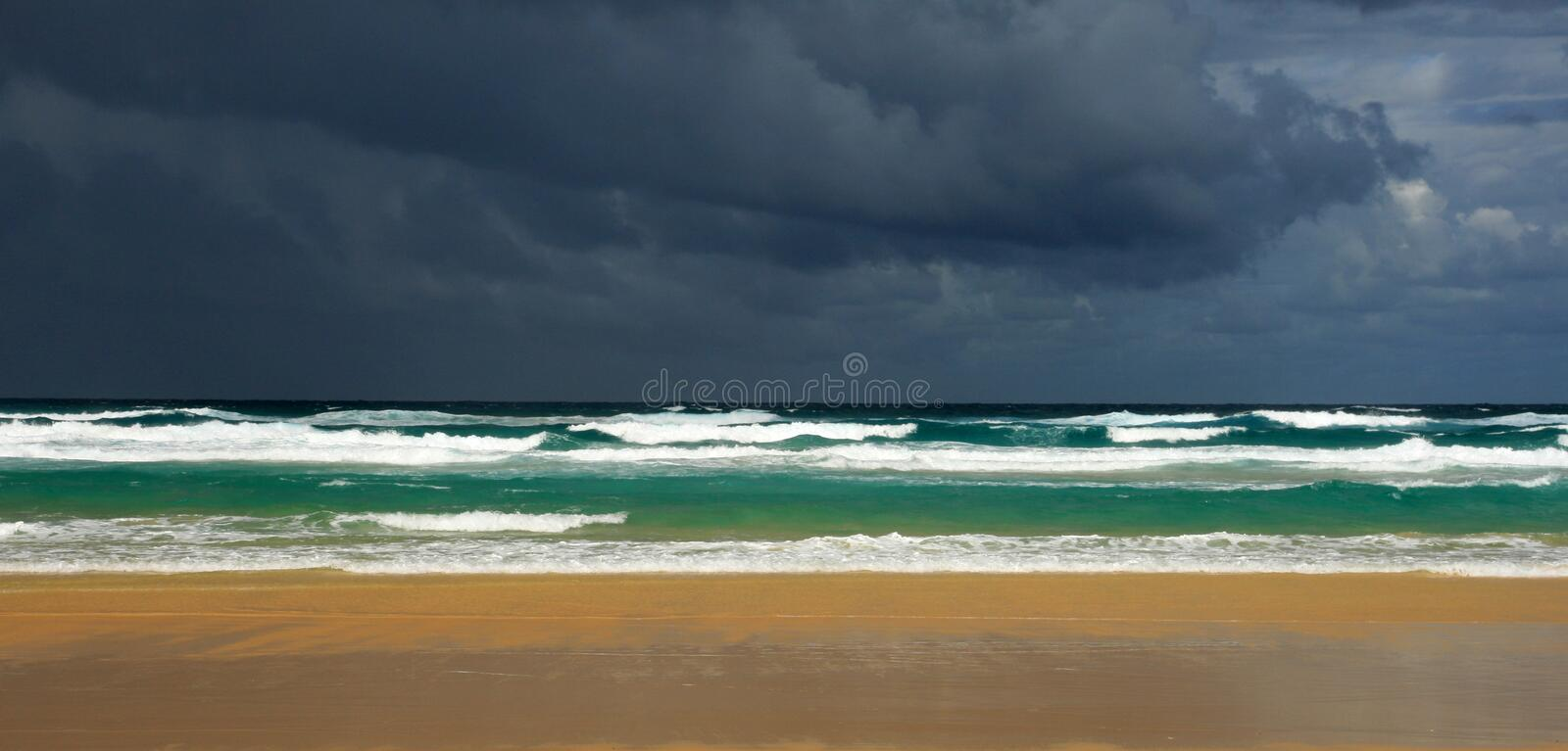 Download Storm Brewing stock photo. Image of skies, beach, warning - 34296862
