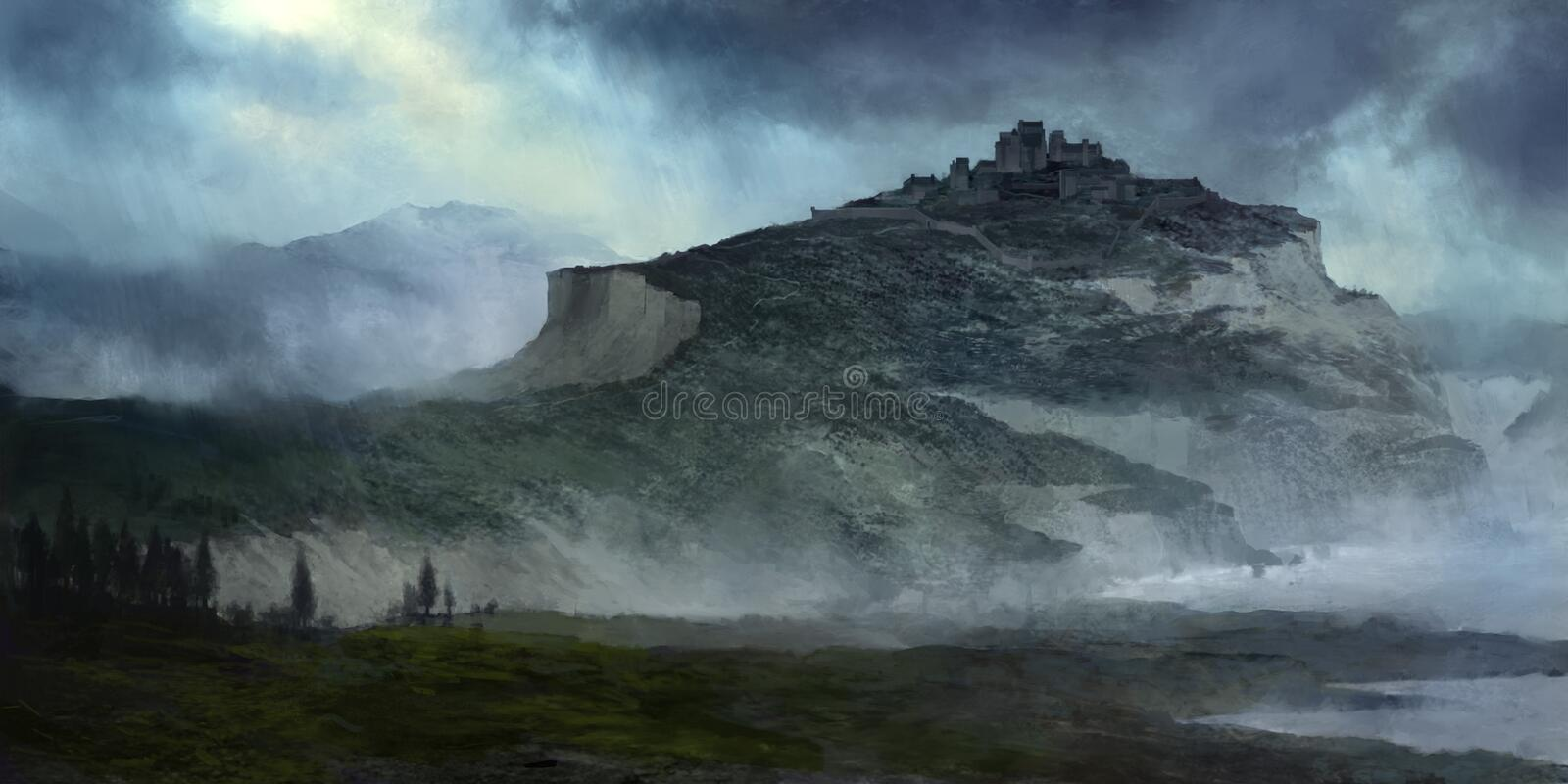 Download Storm Castle illustration stock illustration. Image of bluff - 23122960