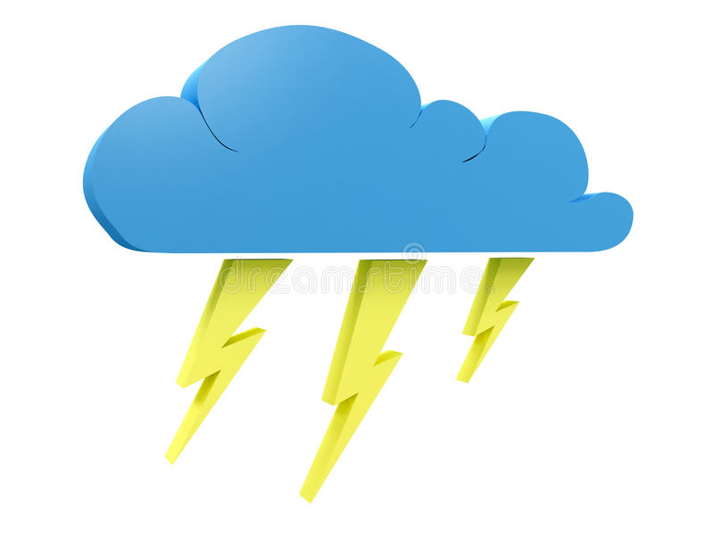 Download Storm cloud stock illustration. Illustration of isolated - 12529977
