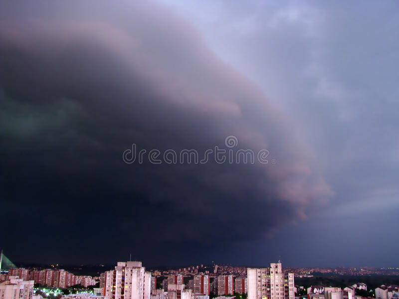 Storm cloud approaching stock photo