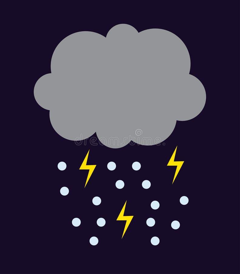 Storm cloud illustration. royalty free illustration