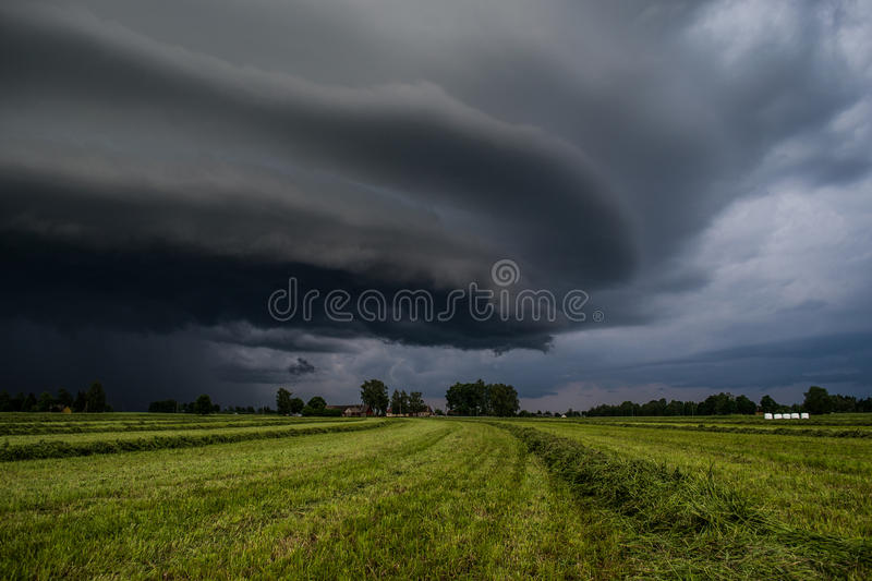 A storm cloud stock photo