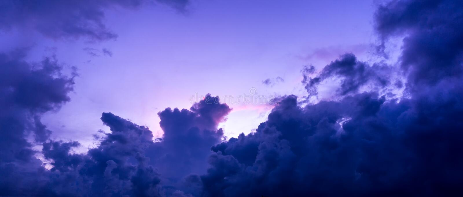 Storm cloud on the sky. Drak storm cloud on the sky at morning stock image