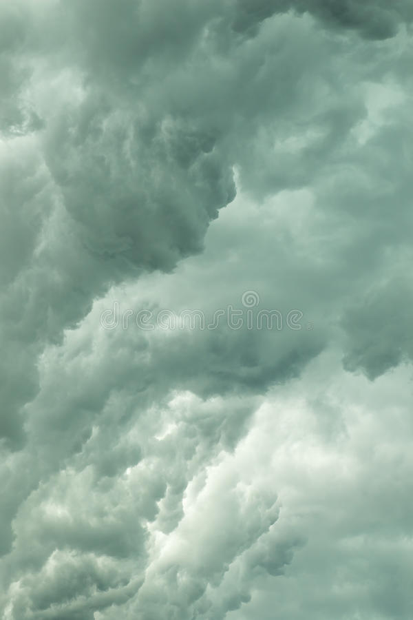 Storm cloud texture. Summer storm clouds create dramatic texture stock photo