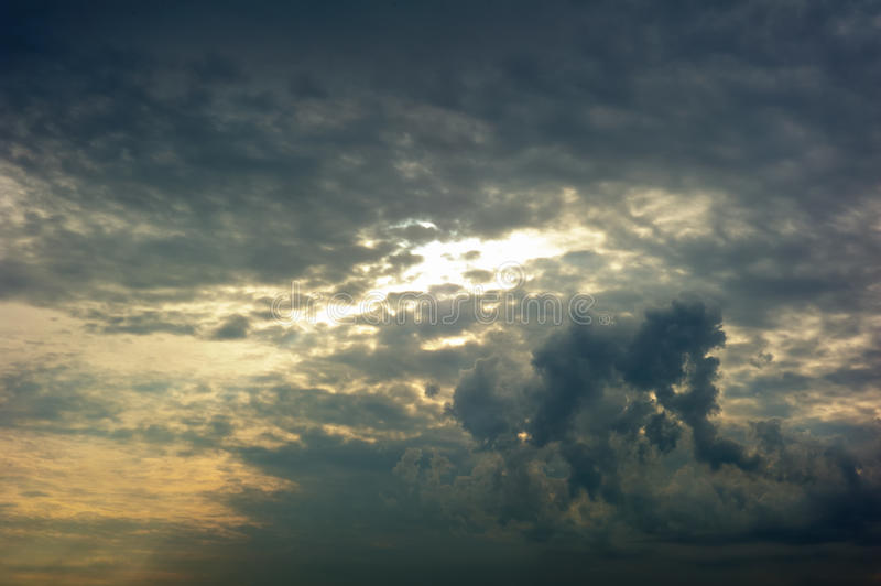 Storm clouds. In the sky royalty free stock images