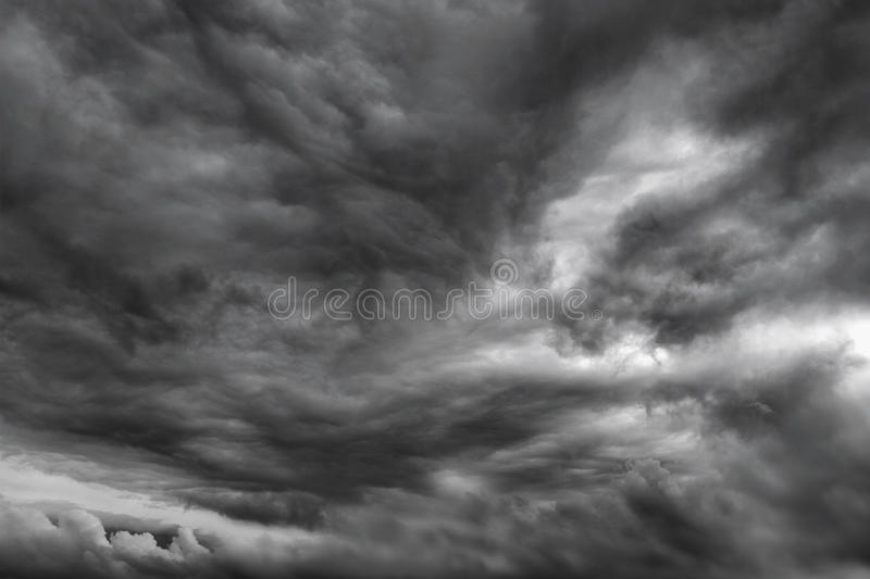 Storm clouds. Dark ominous grey storm clouds. Dramatic sky royalty free stock images