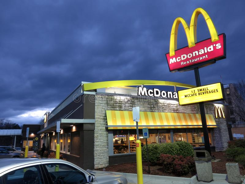 Storm Clouds Above McDonalds stock image