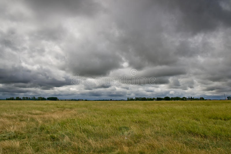 Storm clouds approaching royalty free stock image