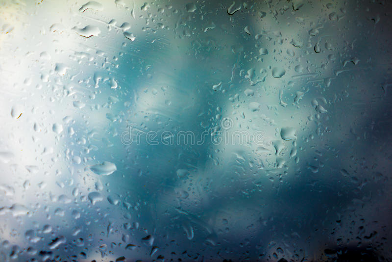 Storm Clouds Background. Drops of Rain on Glass, Rain Drops on Clear Window, Drops Of Rain On Glass Background, Autumn Abstract Backdrop, Clouds Backgrounds royalty free stock image