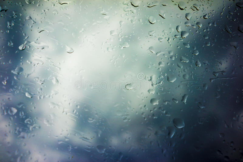 Storm Clouds Background. Drops of Rain on Glass, Rain Drops on Clear Window, Drops Of Rain On Glass Background, Autumn Abstract Backdrop, Clouds Backgrounds stock images