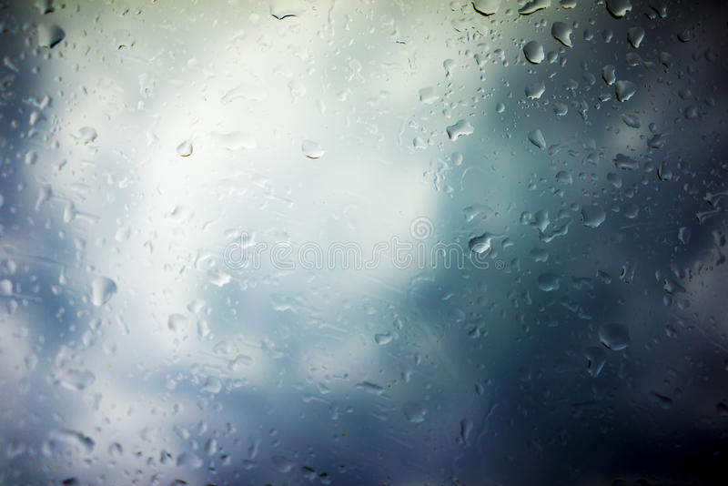 Storm Clouds Background. Drops of Rain on Glass, Rain Drops on Clear Window, Drops Of Rain On Glass Background, Autumn Abstract Backdrop, Clouds Backgrounds royalty free stock photos