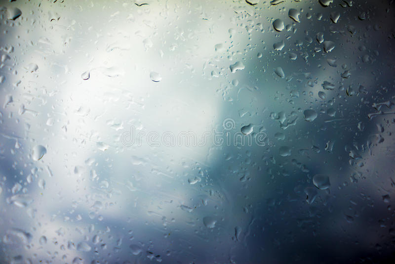 Storm Clouds Background. Drops of Rain on Glass, Rain Drops on Clear Window, Drops Of Rain On Glass Background, Autumn Abstract Backdrop, Clouds Backgrounds royalty free stock photo