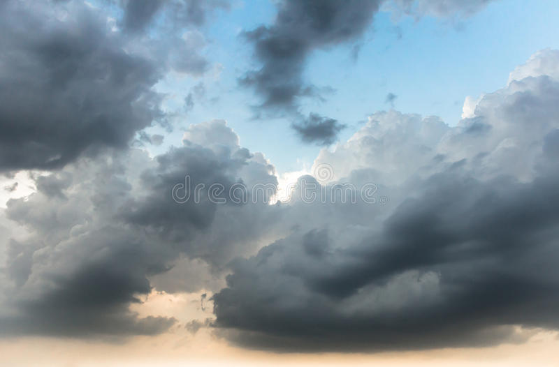Storm clouds. Background of storm clouds before a thunder-storm stock images