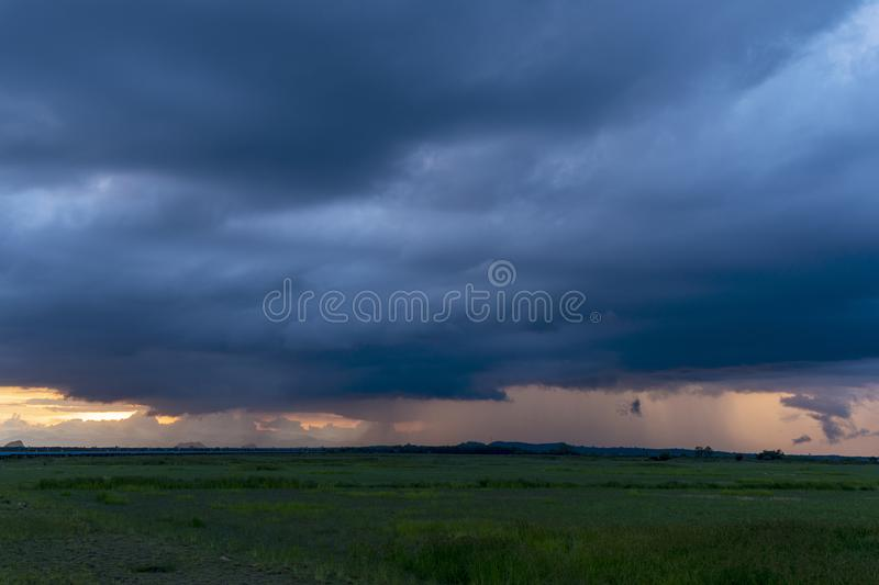 Storm clouds in bad weather day Evening time.  stock image
