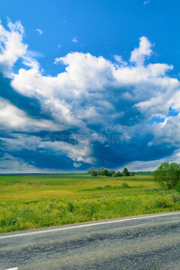 Storm clouds and blue sky royalty free stock photos