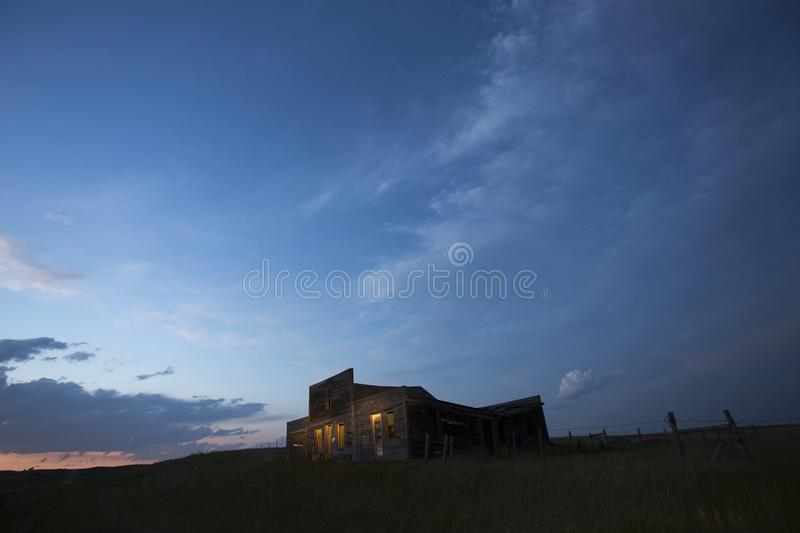 Storm Clouds Canada. Rural countryside Night Shot royalty free stock image