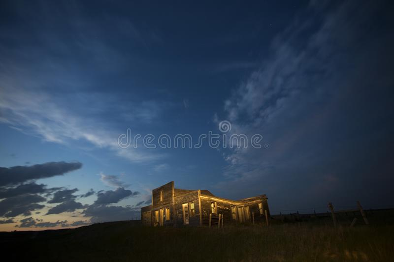 Storm Clouds Canada. Rural countryside Night Shot stock photography