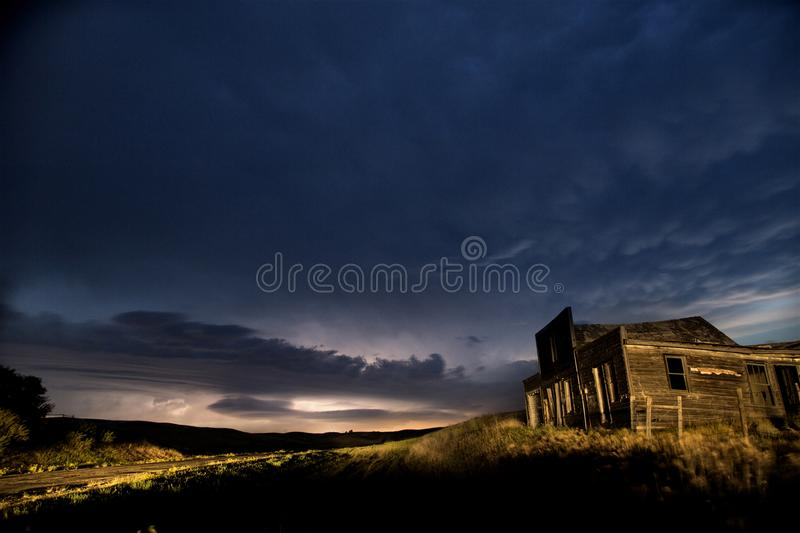 Storm Clouds Canada. Rural countryside Night Shot royalty free stock photo