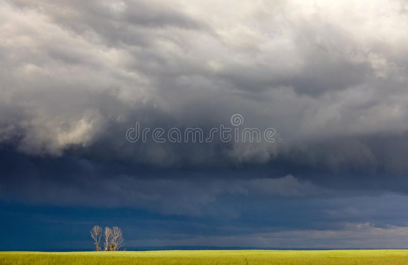 Storm Clouds Canada. Rural countryside Prairie Scene royalty free stock images