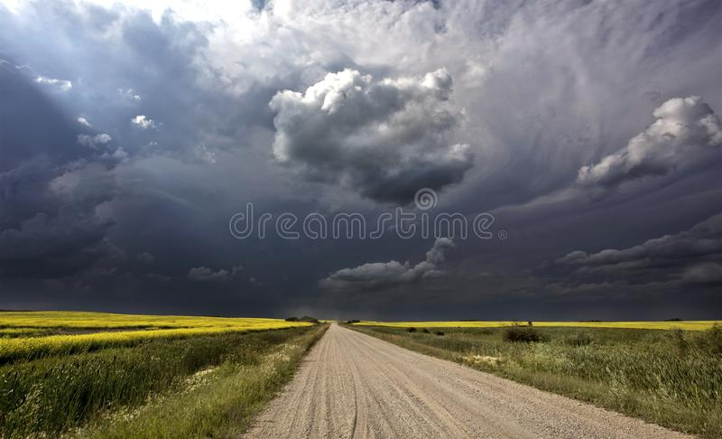 Storm Clouds Canada. Rural countryside Prairie Scene royalty free stock photos