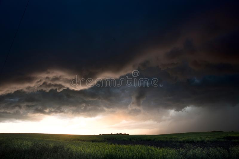 Storm Clouds Canada. Rural countryside Prairie Scene royalty free stock photography