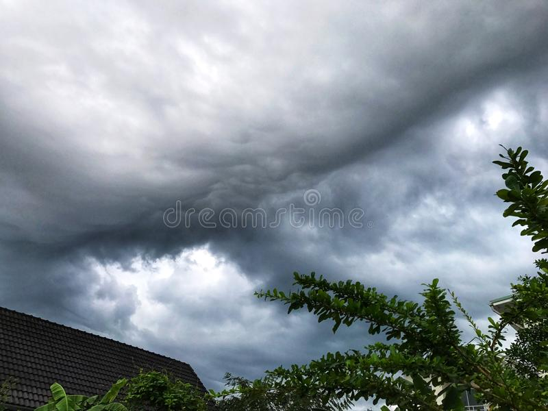Storm clouds, Dark cloudy before storm. Clouds sky before heavy raining royalty free stock image