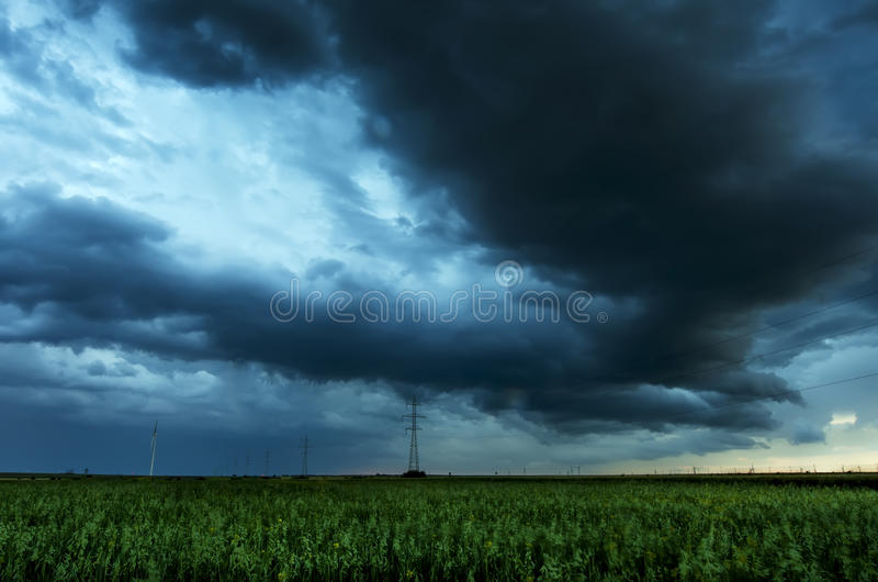 Download Storm Clouds Flying Over Field Stock Image - Image: 34123785
