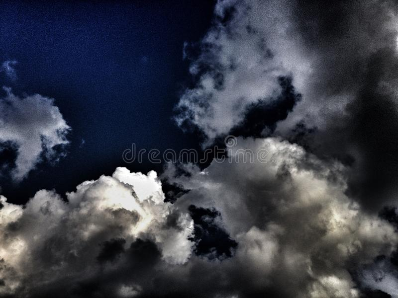 Storm clouds gathering stock images