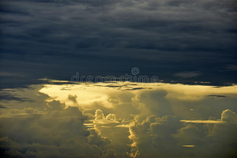 Storm clouds gathering royalty free stock photos
