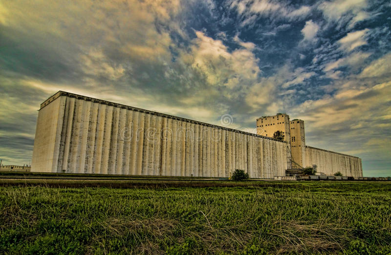Storm Clouds at the Grain Elevator royalty free stock images