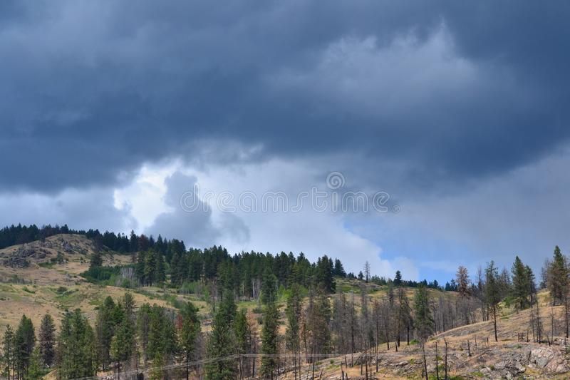 Storm Clouds Moving In. Rain, weather royalty free stock photography