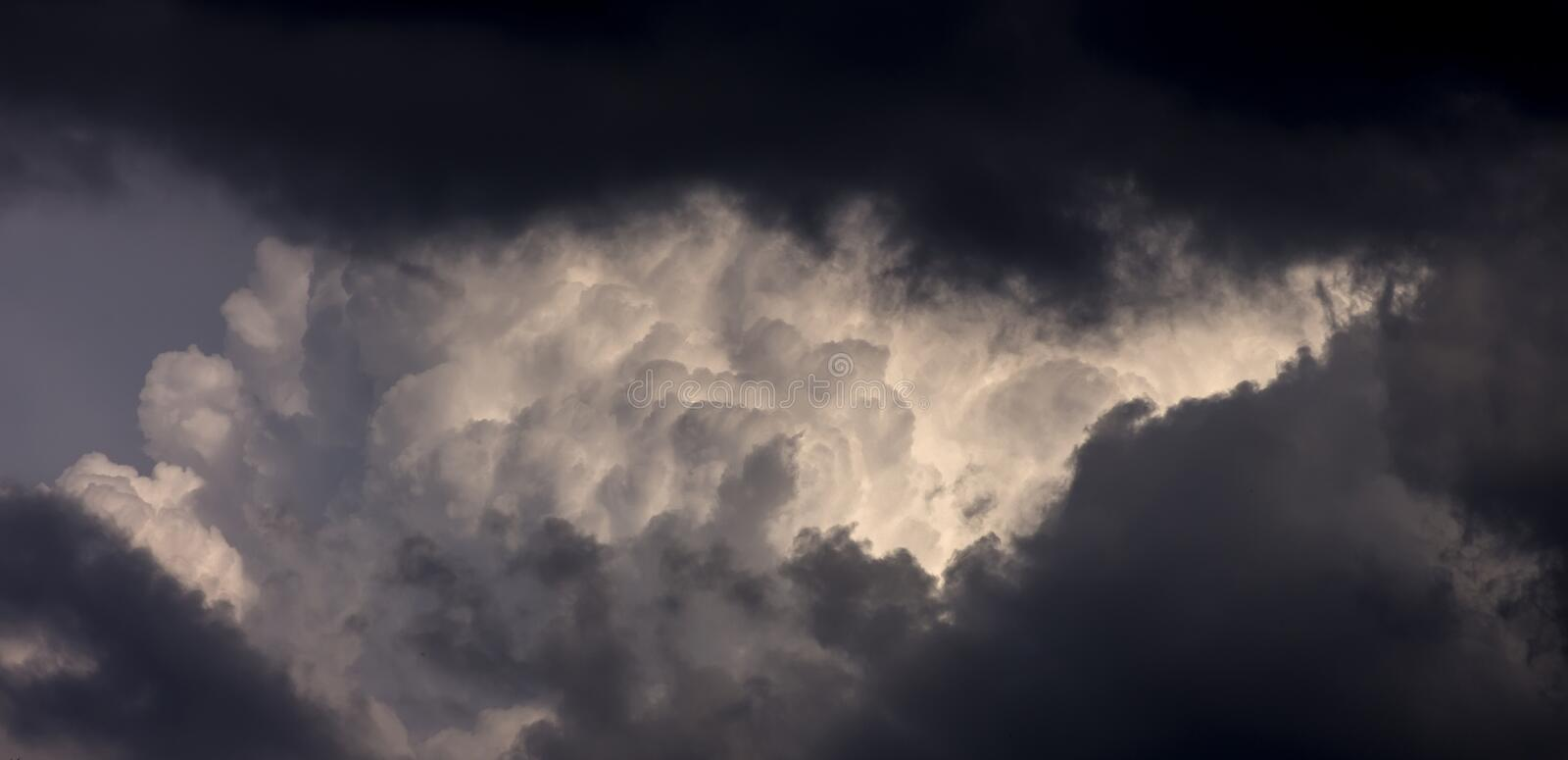 Storm Clouds. Multiple layers of storm clouds stock photo