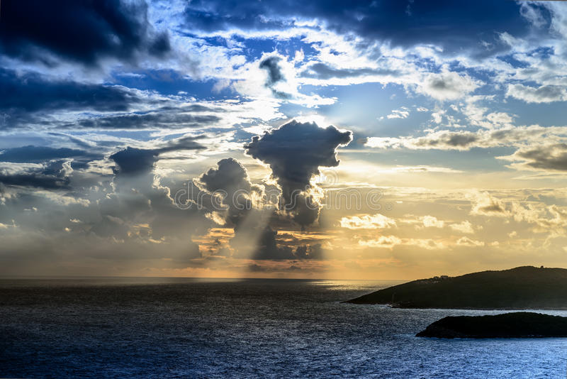 Storm clouds over Adriatic sea royalty free stock photography