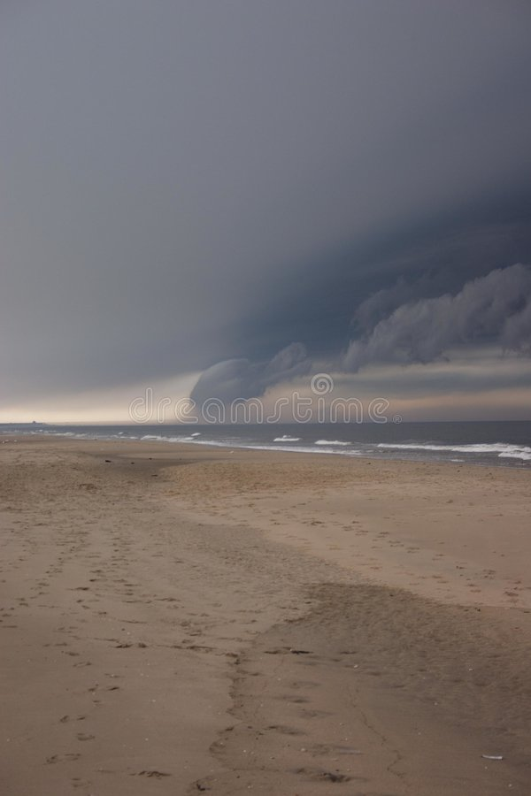 Download Storm Clouds Over Beach Stock Photo - Image: 192150