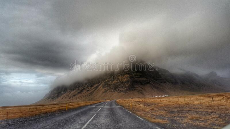 Storm Clouds over Highway stock photos