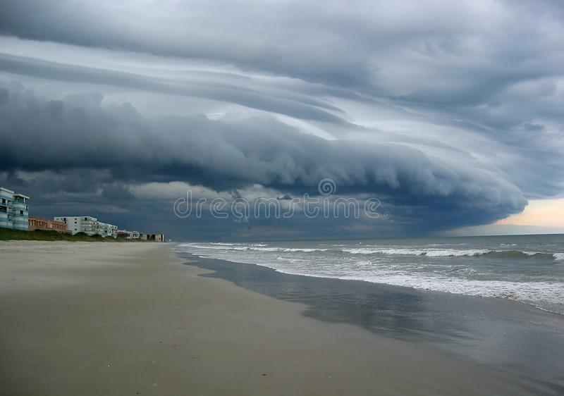 Storm Clouds. Over Satellite Beach Florida stock photo
