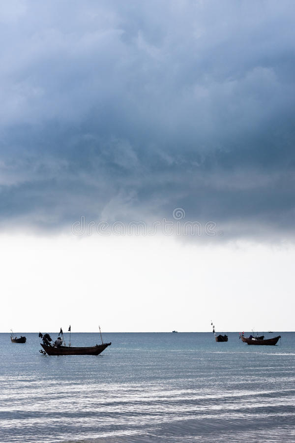 Download Storm clouds over sea stock photo. Image of amassing - 19210534